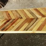 Industrial Pallet Chevron Coffee Table