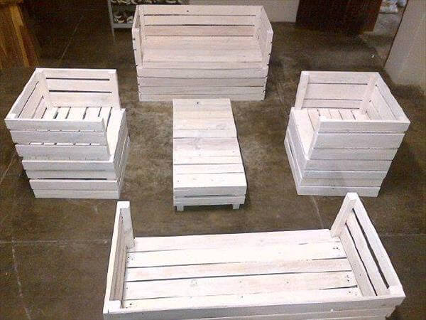 Diy Pallet Furniture Set For Garden Pallets