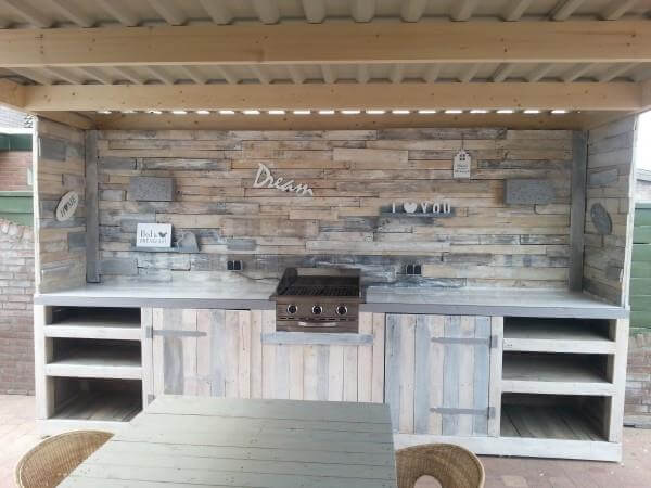 Kitchen Cabinets From Pallets make a pallet kitchen for outdoor | 99 pallets