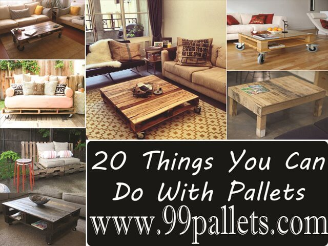 Diy pallet furniture 20 things you can do with pallets for What can you make with recycled pallets