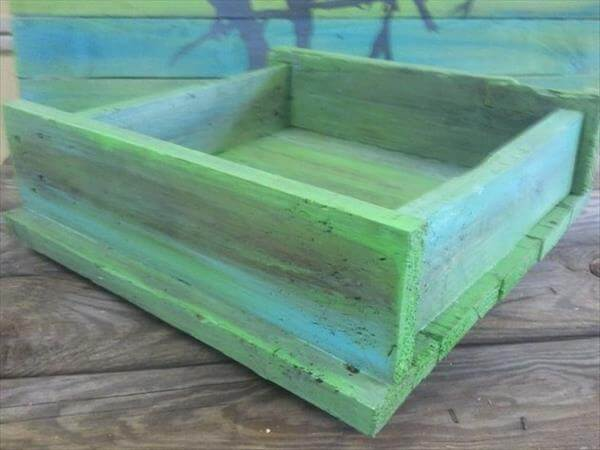 handcrafted pallet serving tray