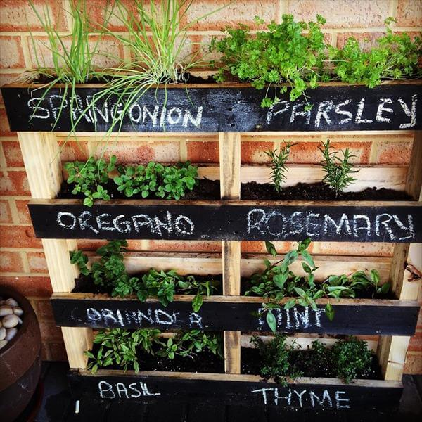 DIY Pallet Vertical Herb Garden: Hanging Planter
