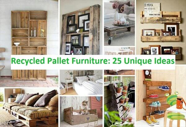Recycled pallet furniture 25 unique ideas 99 pallets for What can you make with recycled pallets