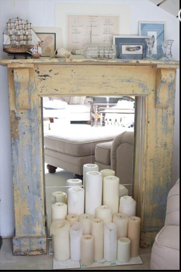 diy faux pallet fireplace 99 pallets
