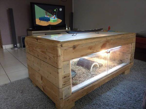 Diy pallet table basse terrarium 99 pallets - Fabriquer table basse aquarium ...