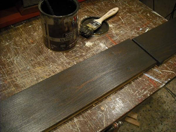 staining one plank in dark