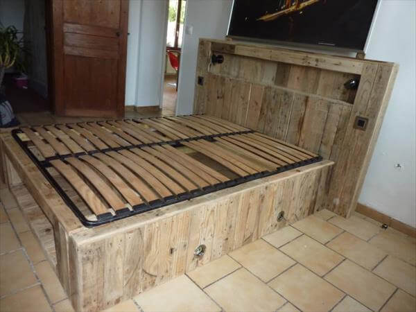 pallet bedroom furniture plans for sale pinterest made out of pallets