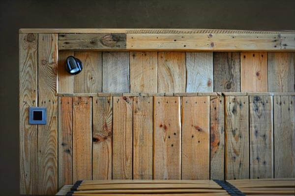Diy Headboards With Lights diy pallet bed with lights | 99 pallets
