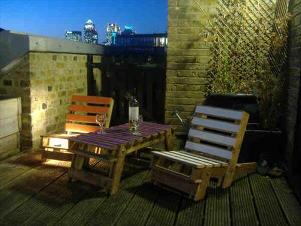 upcycled pallet patio chair furniture