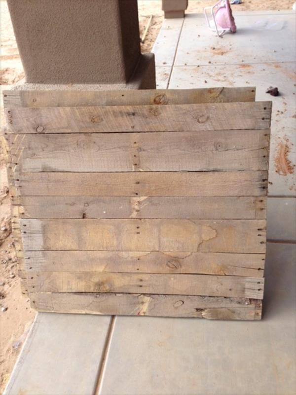 diy squared pallet wall sign