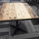Metal Frame Pallet Wood Table Top