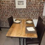 Industrial Pallet Table for Patio and Restaurant
