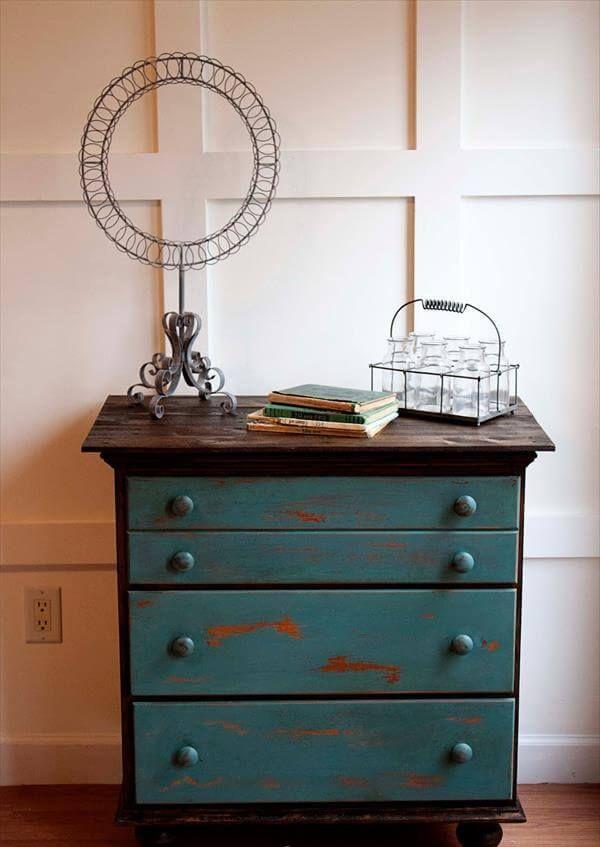 Refurbished Vintage Chest Drawers Pallet Tutorial