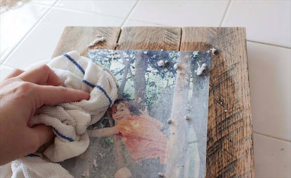 removing the dried mod podge