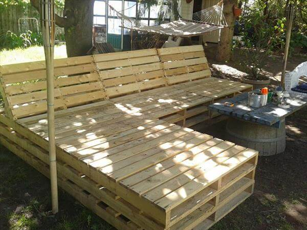 DIY Pallet Outdoor Sectional Furniture 99 Pallets