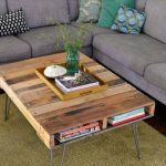 Pallet Coffee Table with Metal Hairpin Legs: DIY