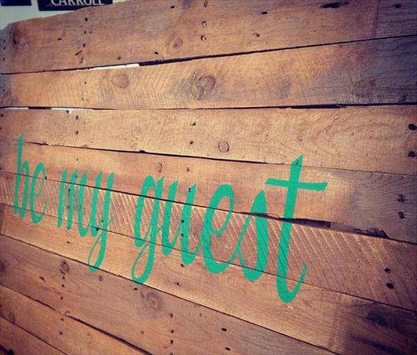 upcycled pallet wall sign