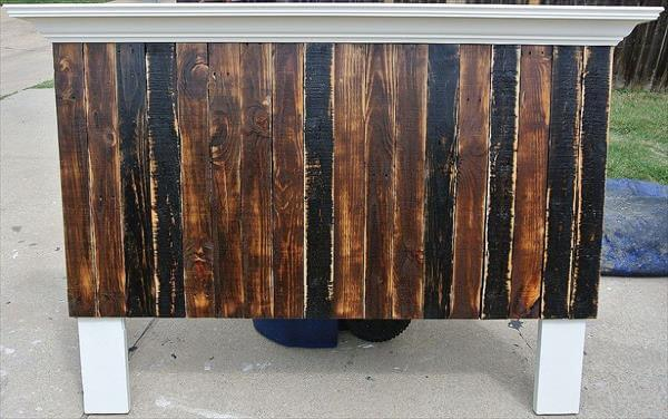 handcrafted pallet headboard