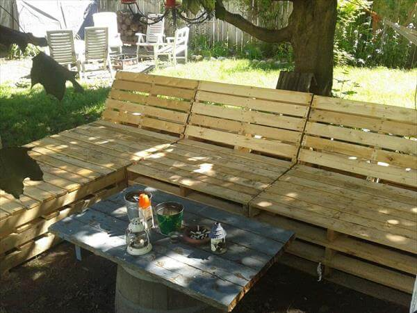 If you give an angle to the backrests of this DIY pallet outdoor ...