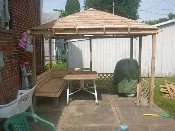 gazebos made out of pallets photo