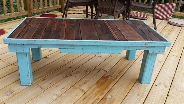 15 Unique Reclaimed Pallet Table Ideas | 99 Pallets