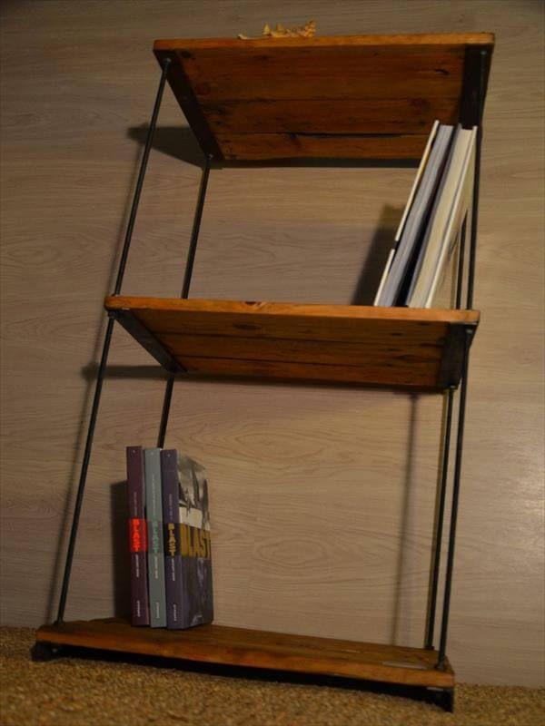 handmade adjustable pallet shelves