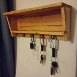 DIY Pallet Entryway Key Organizer