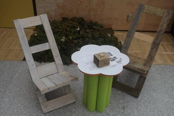 recycled pallet foldable chair idea