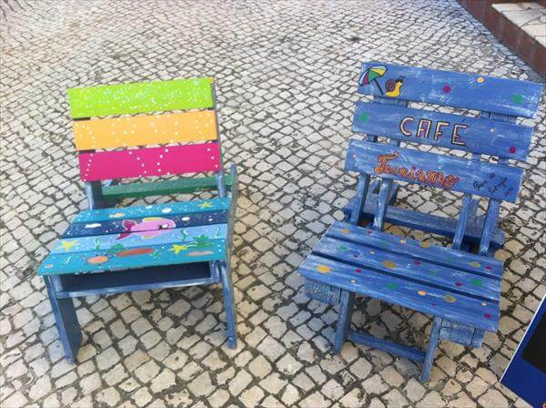 upcycled pallet chairs