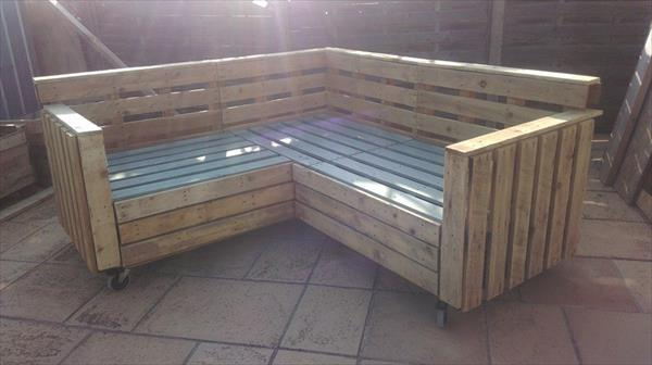 upcycled pallet sectional sofa