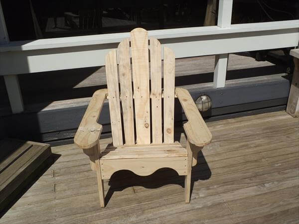 rustic pallet adirondack chair