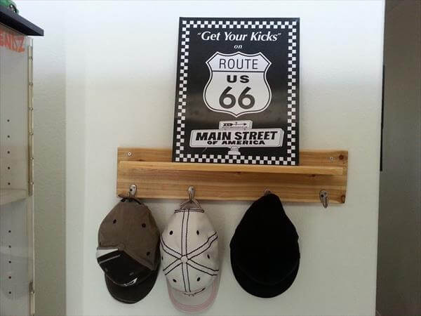 upcycled pallet entry way coat rack