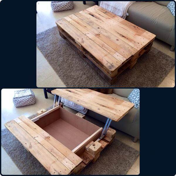 15 unique reclaimed pallet table ideas 99 pallets for Table basse palette