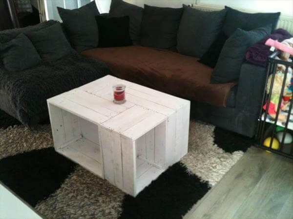 reclaimed pallet crate coffee table