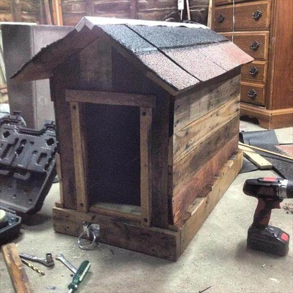 6 inspiring and stunning pallet furniture ideas - How to build a dog house with pallets ...