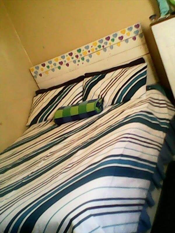 wooden pallet kids bed headboard