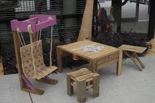 diy pallet kids sitting furniture