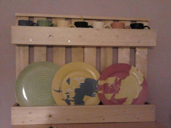 pallet kitchen utensil rack