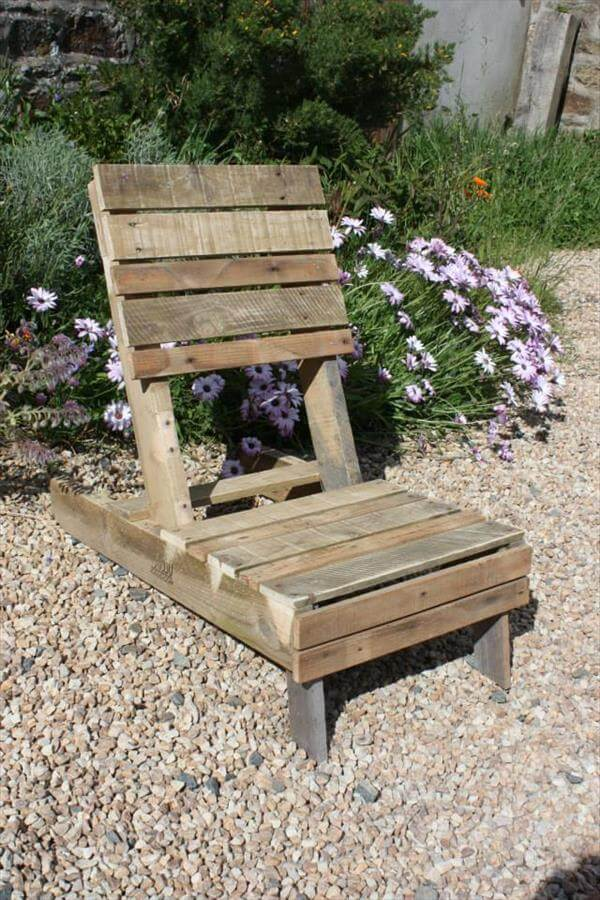 handcrafted pallet lounge chair