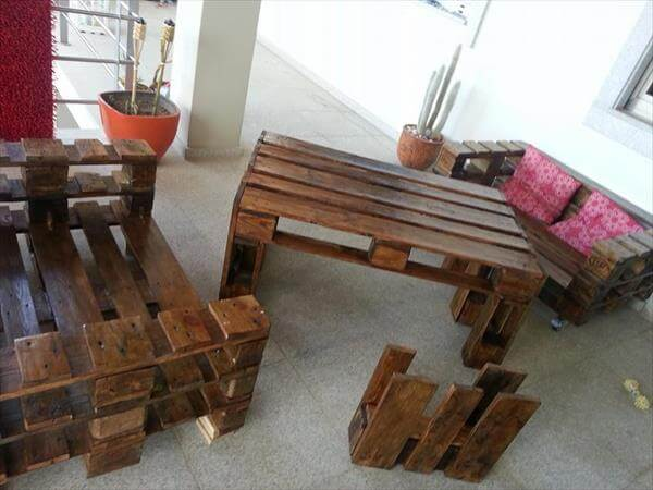 handmade pallet outdoor furniture
