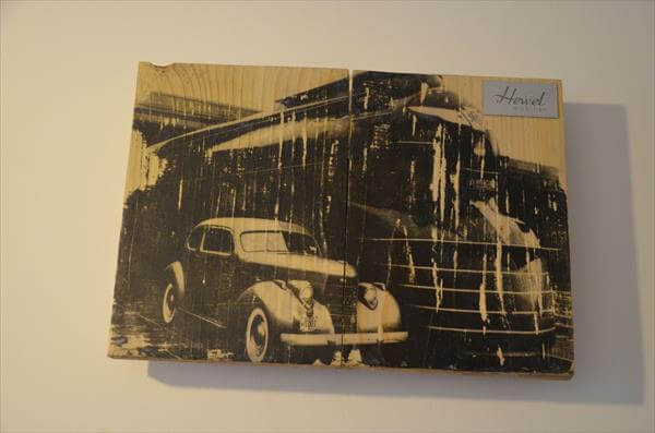 upcycled pallet picture wall art