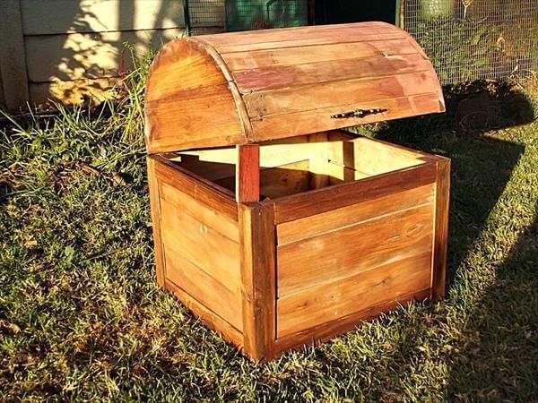 wooden pallet storage box or chest