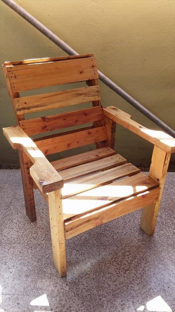 DIY Recycled Wooden Pallet Chair 99 Pallets