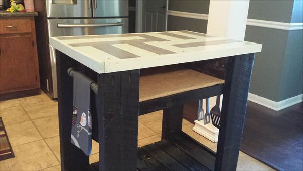 reclaimed pallet kitchen table - DIY Pallet And Barn Wood Kitchen Island Table 99 Pallets
