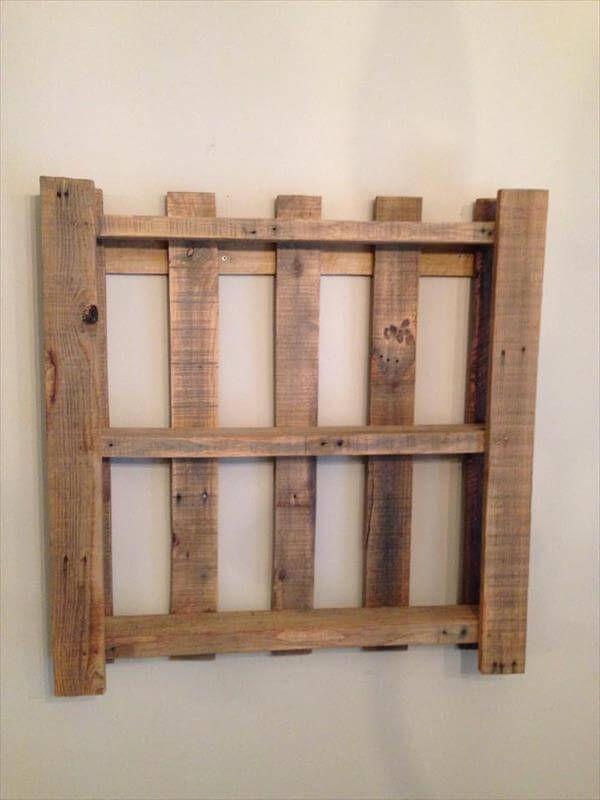easy pallet wall shelf