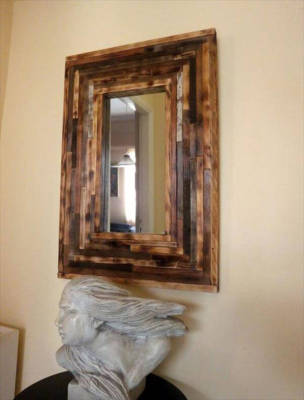 Diy Pallet Wall Mirror Ideas 99 Pallets