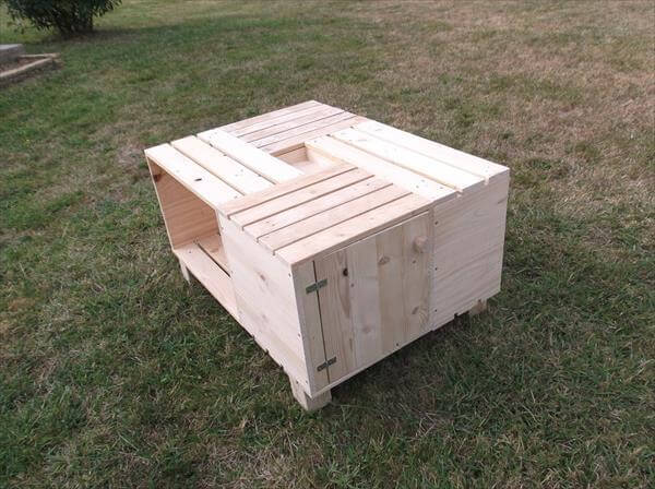 wood pallet crate coffee table