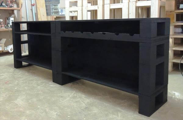 Handmade Pallet Media Console Table And TV Stand