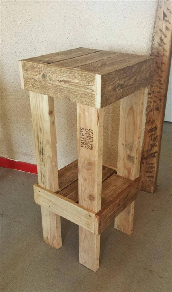 simple pallet stool