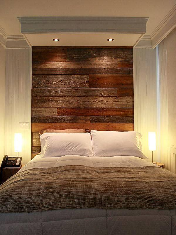 Wall Headboard Ideas diy pallet wall headboard design | 99 pallets